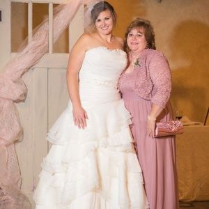 Size 16 Ivory Strapless , Ball Gown, Wedding Gown